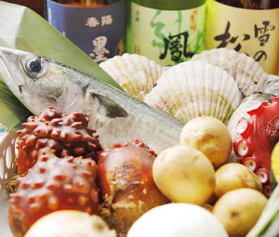 宮城県産の新鮮な海鮮